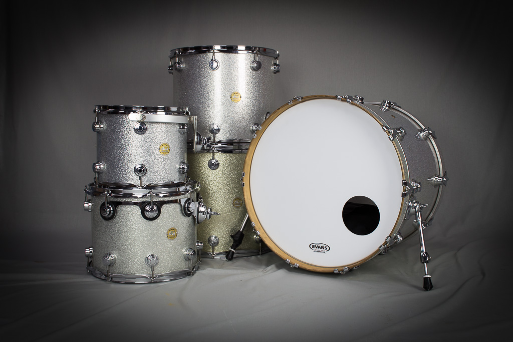 Drum Workshop Pro Series White Broken Glass Complete